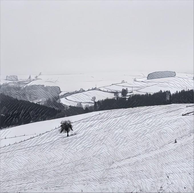 Een stip in hetlandschap