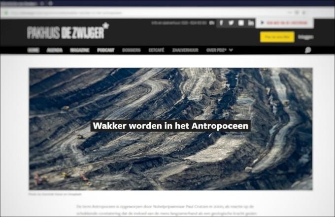 Lezingenserie Wakker worden in het Antropoceen-01